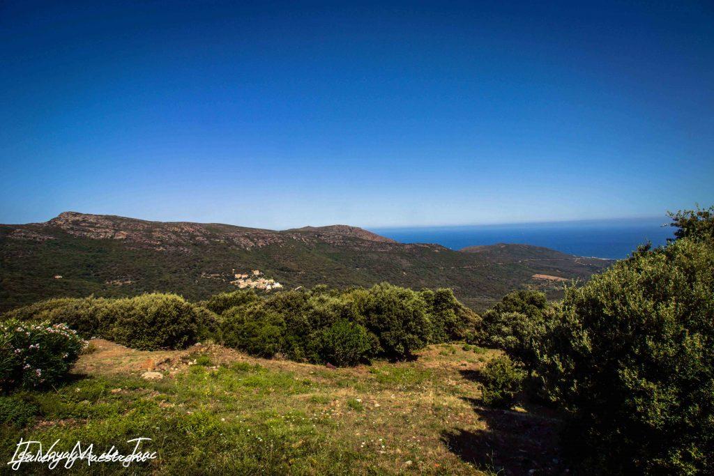 Cap Corse vue sur Italie